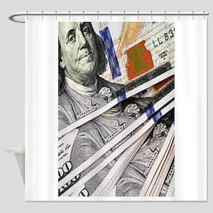 New Hundred Dollar Bills Shower Curtain