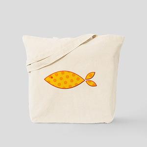 Orange Polkadot Fish Tote Bag