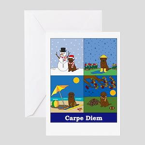 Chocolate Lab Carpe Diem Greeting Card