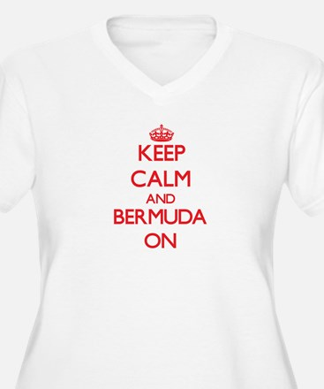 Keep calm and Bermuda ON Plus Size T-Shirt