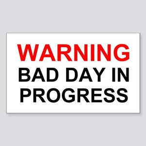 Bad Day Rectangle Sticker