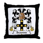 Beauvais Family Crest  Throw Pillow