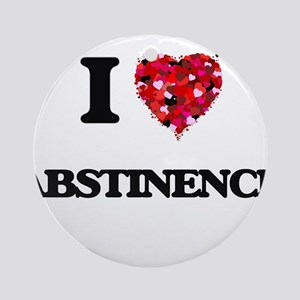 I Love Abstinence Ornament (Round)