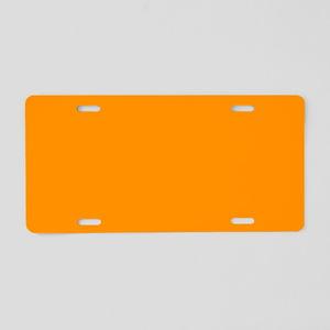 Solid Princeton Orange Aluminum License Plate