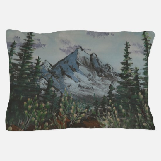 Cute Happy trees bob ross Pillow Case