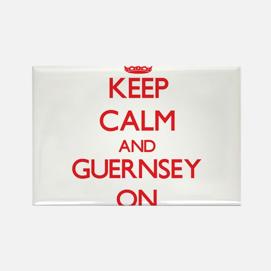 Keep calm and Guernsey ON Magnets