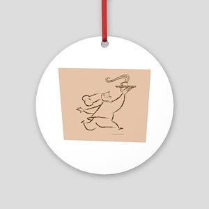 Coffee Chef Round Ornament