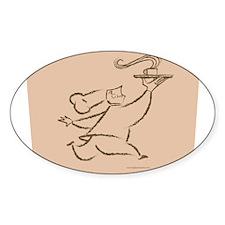 Coffee Chef Sticker (Oval)