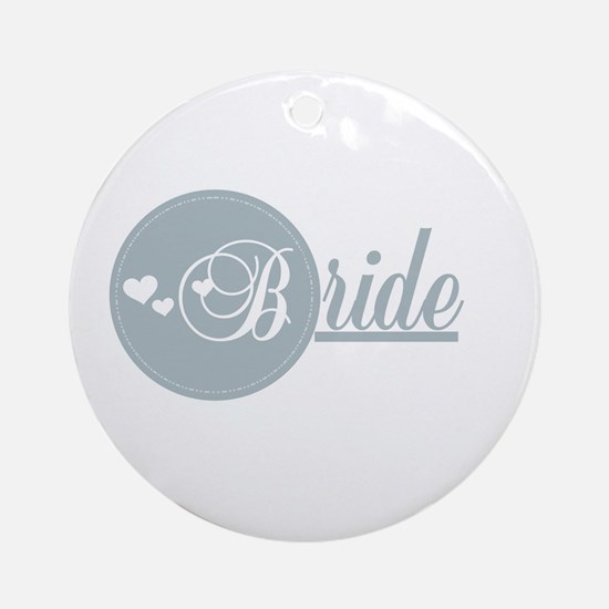 B is for Bride Ornament (Round)