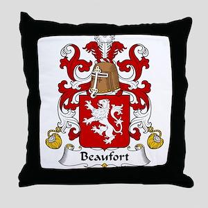 Beaufort Family Crest Throw Pillow