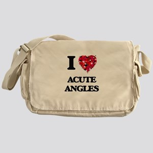 I Love Acute Angles Messenger Bag