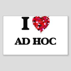 I Love Ad Hoc Sticker