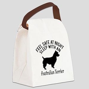 Sleep With Australian Terrier Dog Canvas Lunch Bag