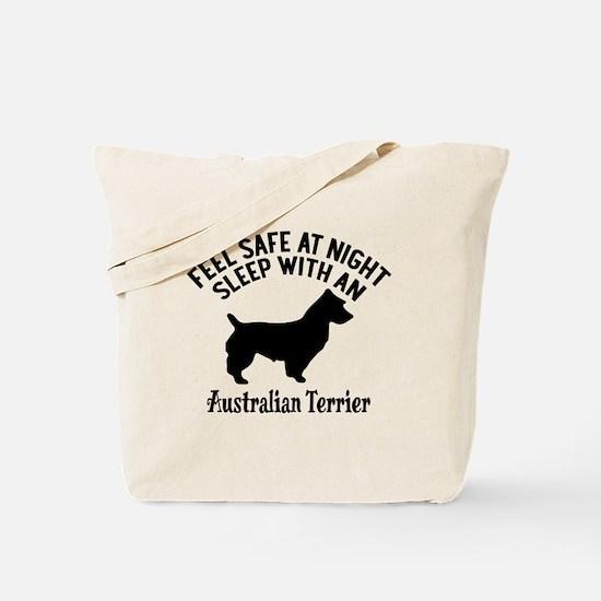 Sleep With Australian Terrier Dog Designs Tote Bag