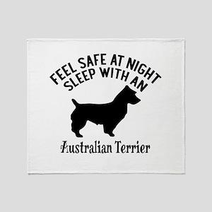 Sleep With Australian Terrier Dog De Throw Blanket
