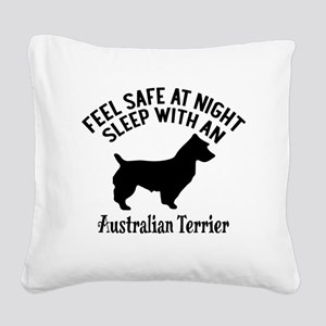 Sleep With Australian Terrier Square Canvas Pillow