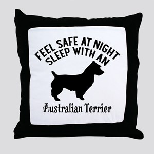 Sleep With Australian Terrier Dog Des Throw Pillow