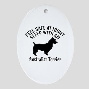 Sleep With Australian Terrier Dog De Oval Ornament