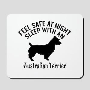 Sleep With Australian Terrier Dog Design Mousepad