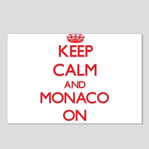 Keep calm and Monaco ON Postcards (Package of 8)