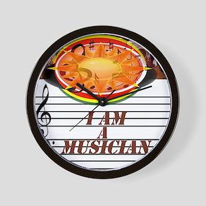 I Am A Musician Wall Clock
