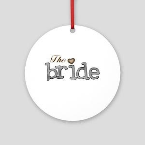 Silver and Gold Bride Ornament (Round)