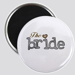 Silver and Gold Bride Magnet
