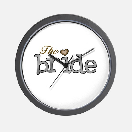 Silver and Gold Bride Wall Clock