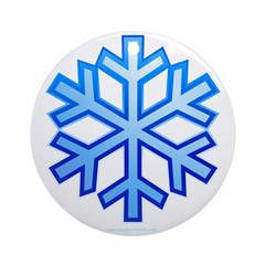 Snowflake Round Ornament
