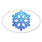 Snowflake Sticker (Oval)