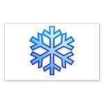 Snowflake Sticker (Rectangle)