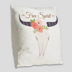 Free Spirit Burlap Throw Pillow