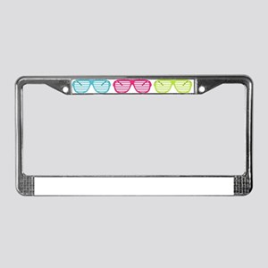Eighties Shades Sunglasses License Plate Frame