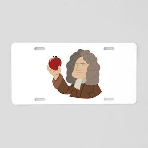 Isaac Newton Aluminum License Plate