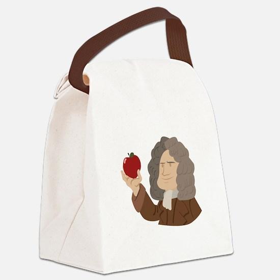 Isaac Newton Canvas Lunch Bag