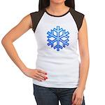 Snowflake Junior's Cap Sleeve T-Shirt