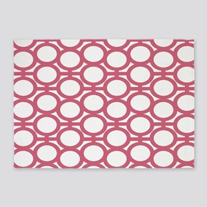 Pink Blush Eyelets 5'x7'Area Rug