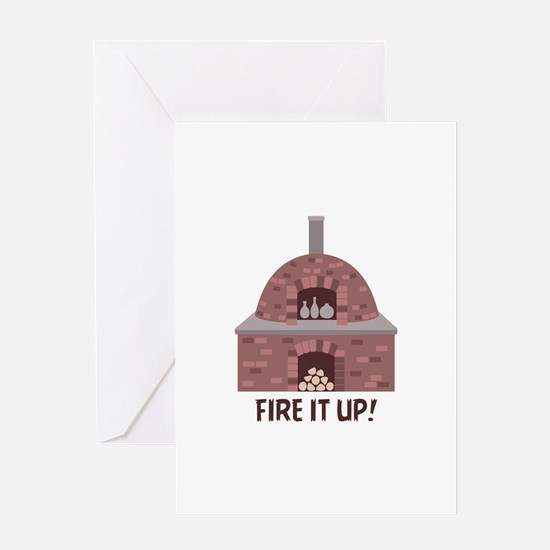 Pottery Kiln Fire Greeting Cards