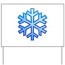 Snowflake Yard Sign