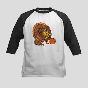 Holiday Turkey Kids Baseball Jersey