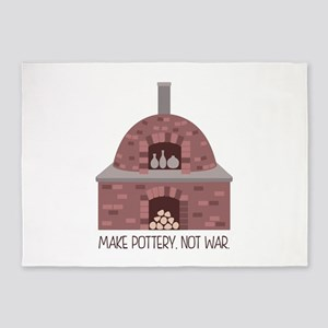 Pottery Kiln No War 5'x7'Area Rug