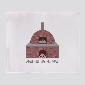 Pottery Kiln No War Throw Blanket