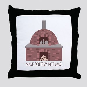 Pottery Kiln No War Throw Pillow