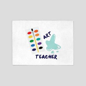 Watercolor Artist Paint Palette Art Teacher 5'x7'A