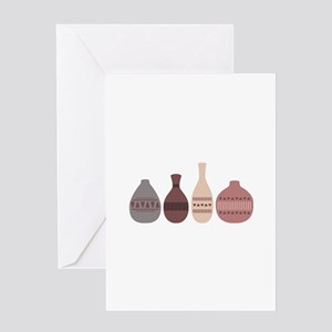 Pottery Vases Greeting Cards