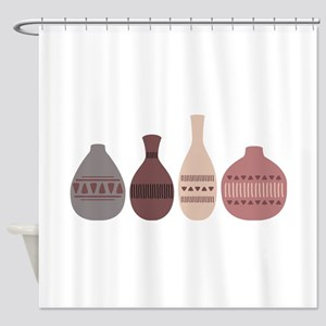 Pottery Vases Shower Curtain