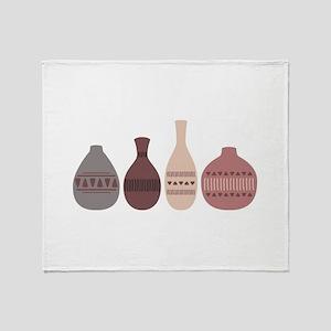 Pottery Vases Throw Blanket