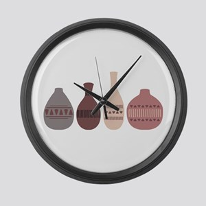 Pottery Vases Large Wall Clock