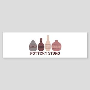Pottery Vases Studio Bumper Sticker
