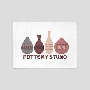 Pottery Vases Studio 5'x7'Area Rug